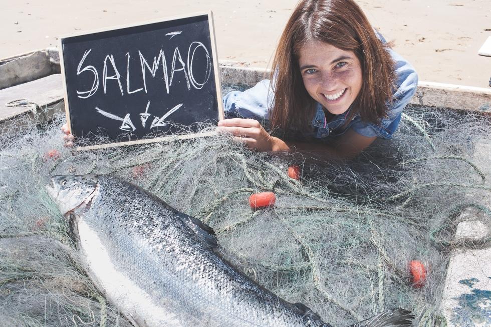 salmão, peixe, peixe fresco, praia, mar