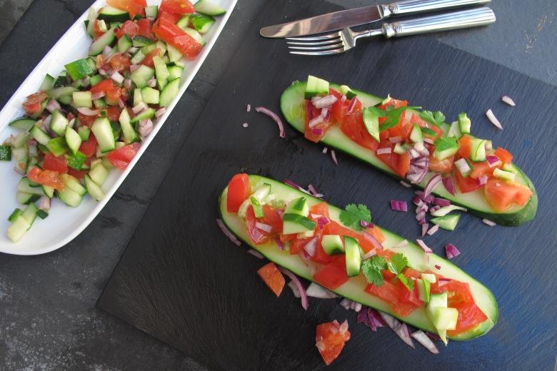 Paddel de Pepino Asiático, salada, comida, alimentação saudável, fitness, saber comer, pepino, tomate, carpaccio