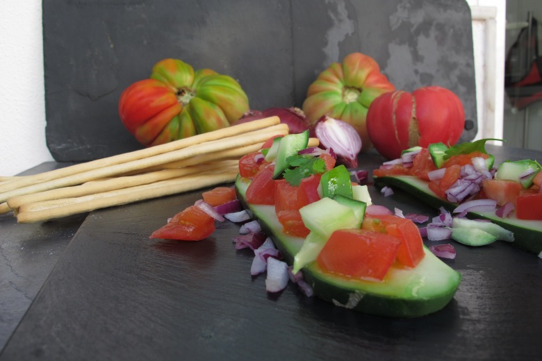 paddel, pepino, paddel de pepino asiatico, gengibre, soja, molho de soja, molho asiatico