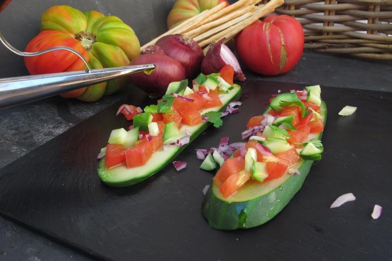 azeite, comer bem, pepino, paddel, paddel de pepino asiático