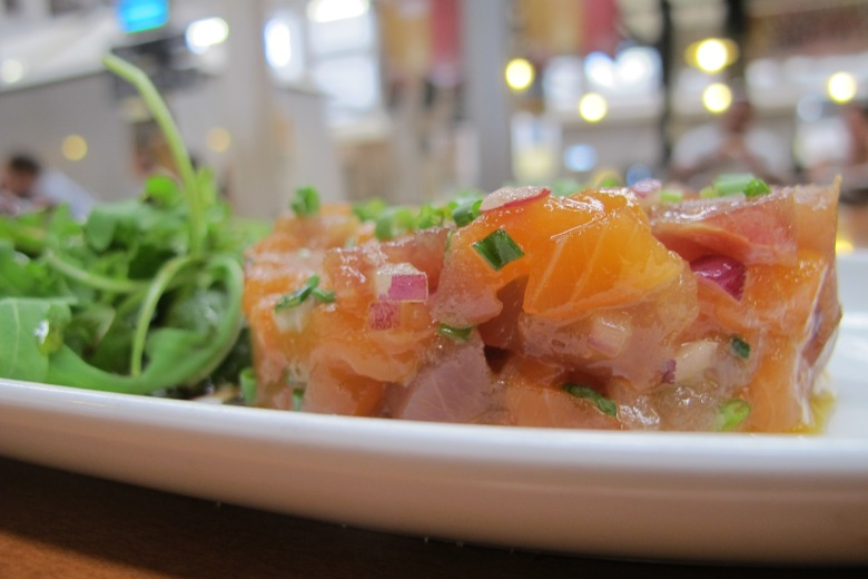 Tártaro misto, tartaro de salmão, salmão, atum, comer saudável, receitas, recita, comida crua, comida, tartar