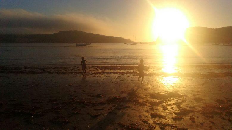fim de tarde, praia, são martinho do porto