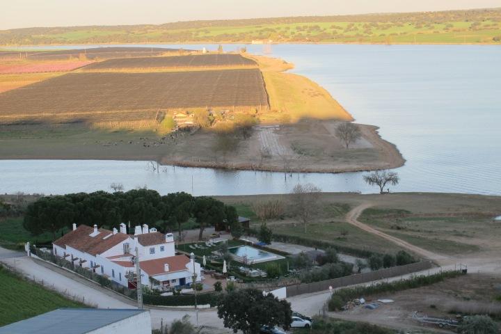 vista do castelo, juromenha, vista castelo, portugal, alqueva, guadiana, rio, f