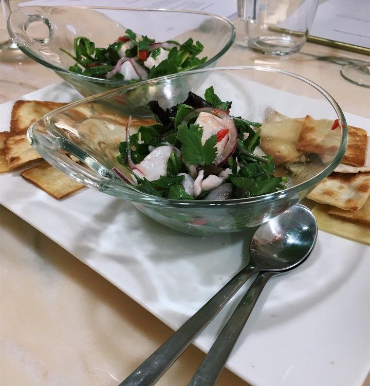 Salada de Ceviche. Cru com pinta.