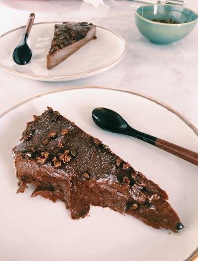 tarte crua de chocolate