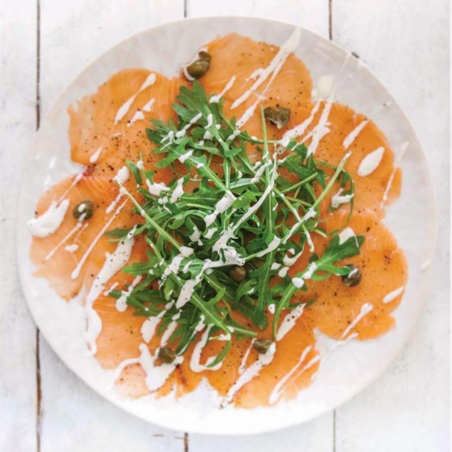 Cru com pinta, Carpaccio, raw foods, natural recipes, receitas cruas, Carpaccio de salmão