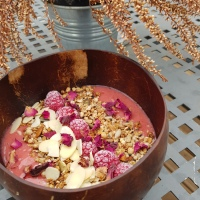 Receita. Smoothie bowl de morango